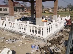 阳台柱-汉白玉围栏