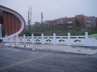 阳台柱-汉白玉栏杆