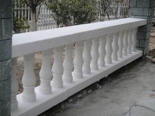 阳台柱-汉白玉护栏