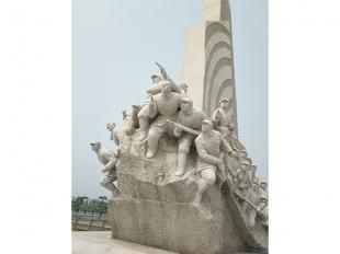 人物雕塑-义勇军石雕