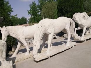 骏马石材雕刻